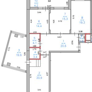 ЖК Дом за Лентой 4к 123м2