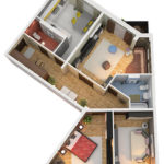Дом с террасами 3к 90,48м2